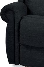 Plush Padding Covers Rolled Arms for a Look That's Classic and a Comfort That Pleases the Body