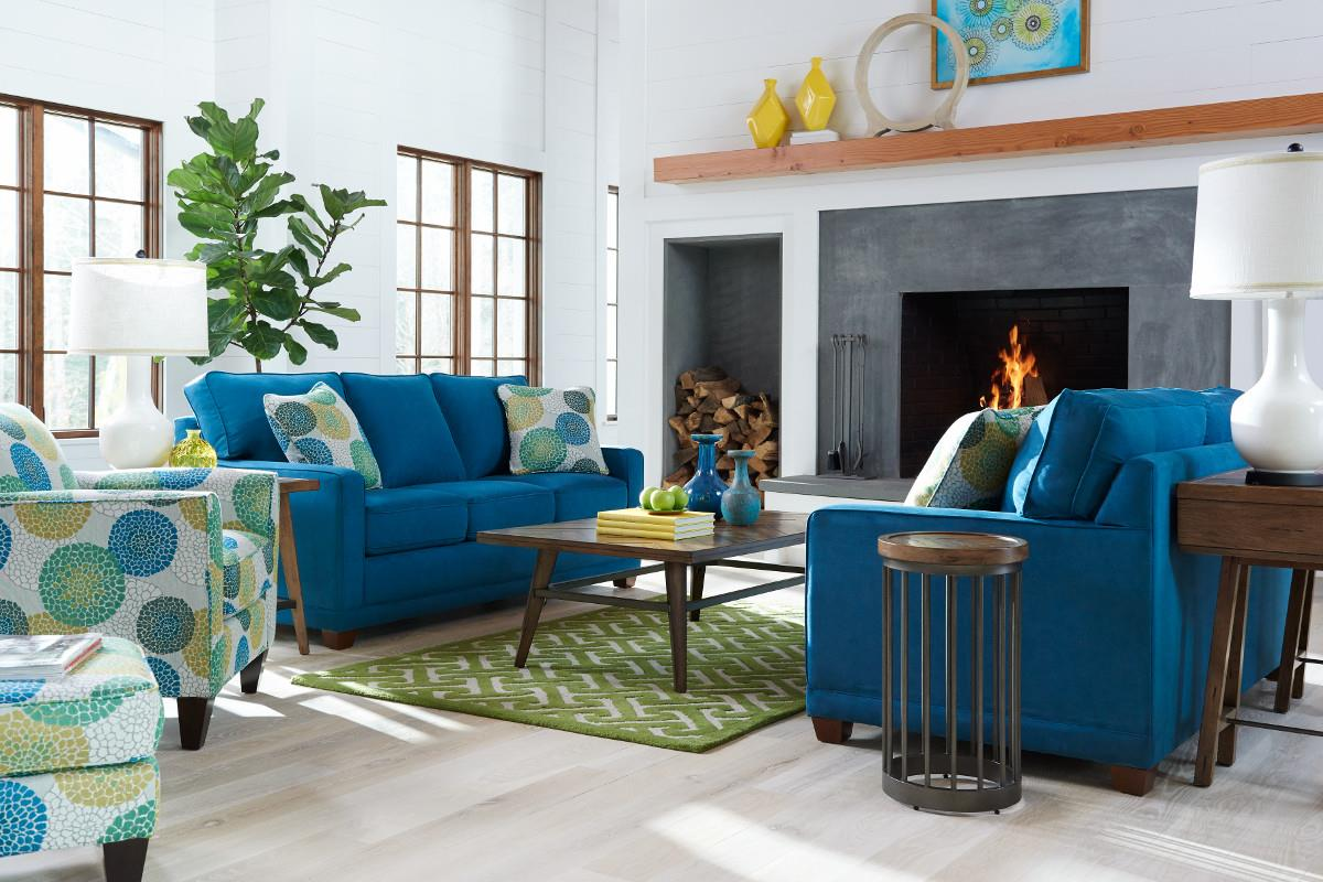 La Z Boy Kennedy Transitional Apartment Size Sofa By Home Furnishings Sofas Lesville Carmel Avon Indianapolis Indiana