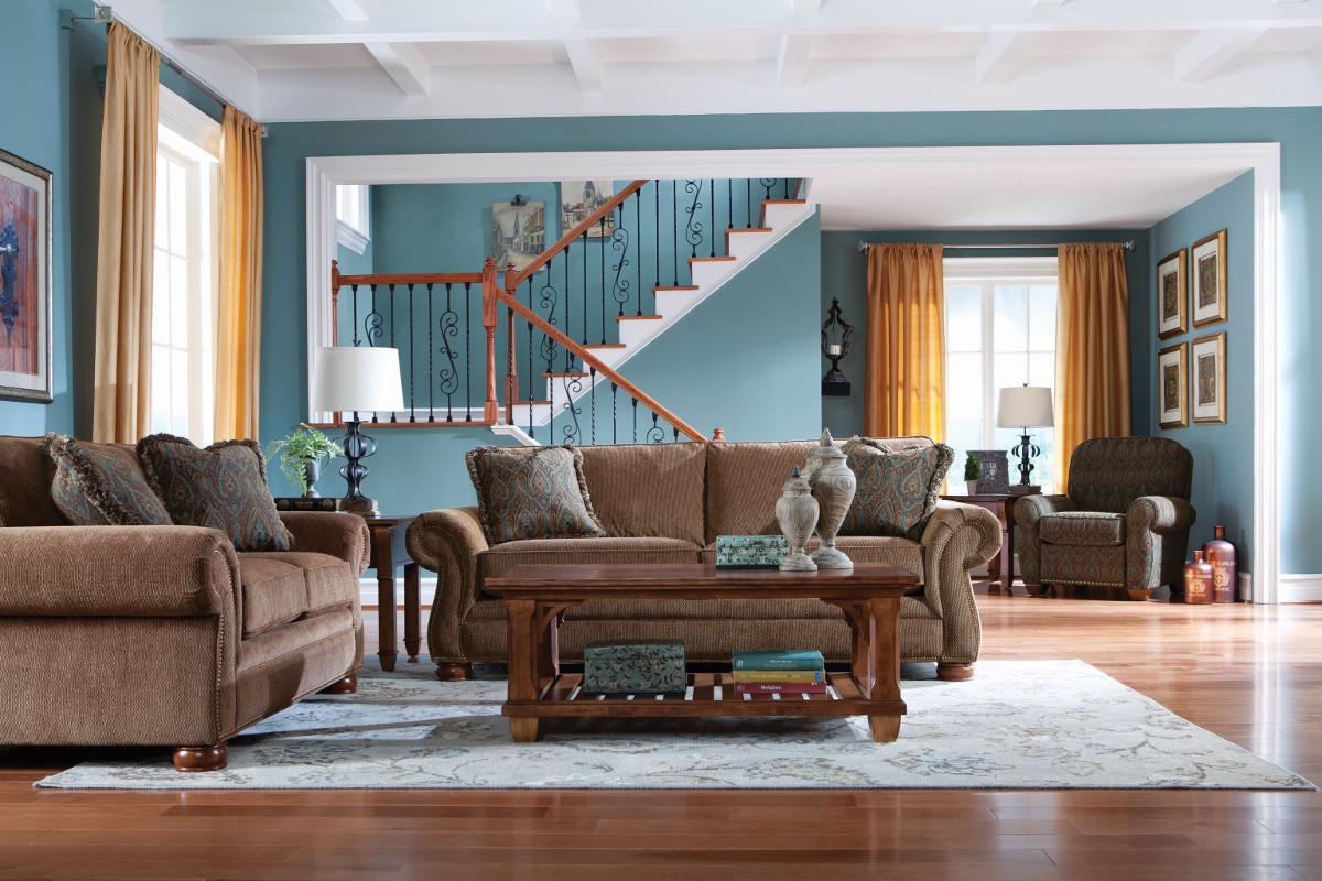 La Z Boy Living Room Set La Z Boy Pembroke La Z Boyar Premier Sofa Conlins Furniture Sofas