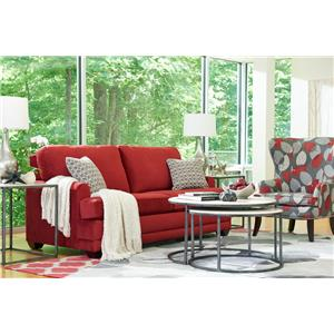 La-Z-Boy Rachel Modern La-Z-Boy® chair-and-a-half with flared wood block feet