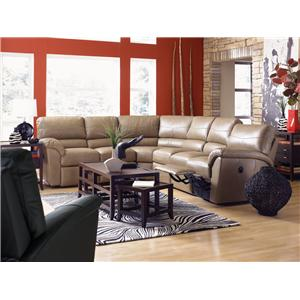 La Z Boy Reese Six Piece Power Reclining Sectional Sofa W Ras
