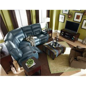 La-Z-Boy Spectator 4 Pc Reclining Sectional Sofa with PowerRecline+