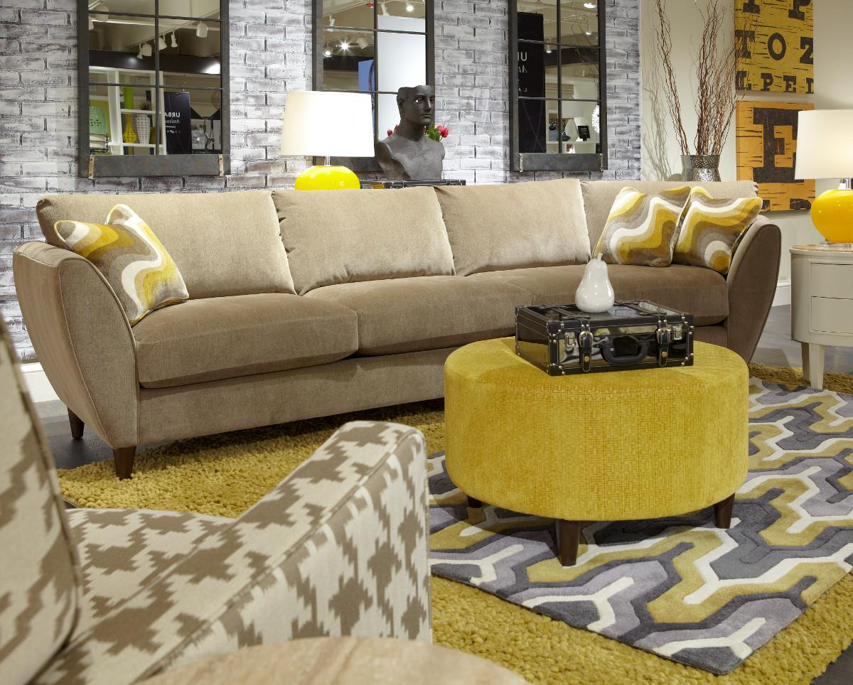 La Z Boy Tribeca Contemporary Two Piece Sectional Sofa With LAS Cuddler |  Lindyu0027s Furniture Company | Sectional Sofas