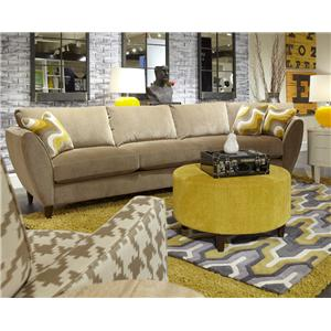 La-Z-Boy Tribeca Contemporary Four Piece Sectional Sofa with LAS Chaise