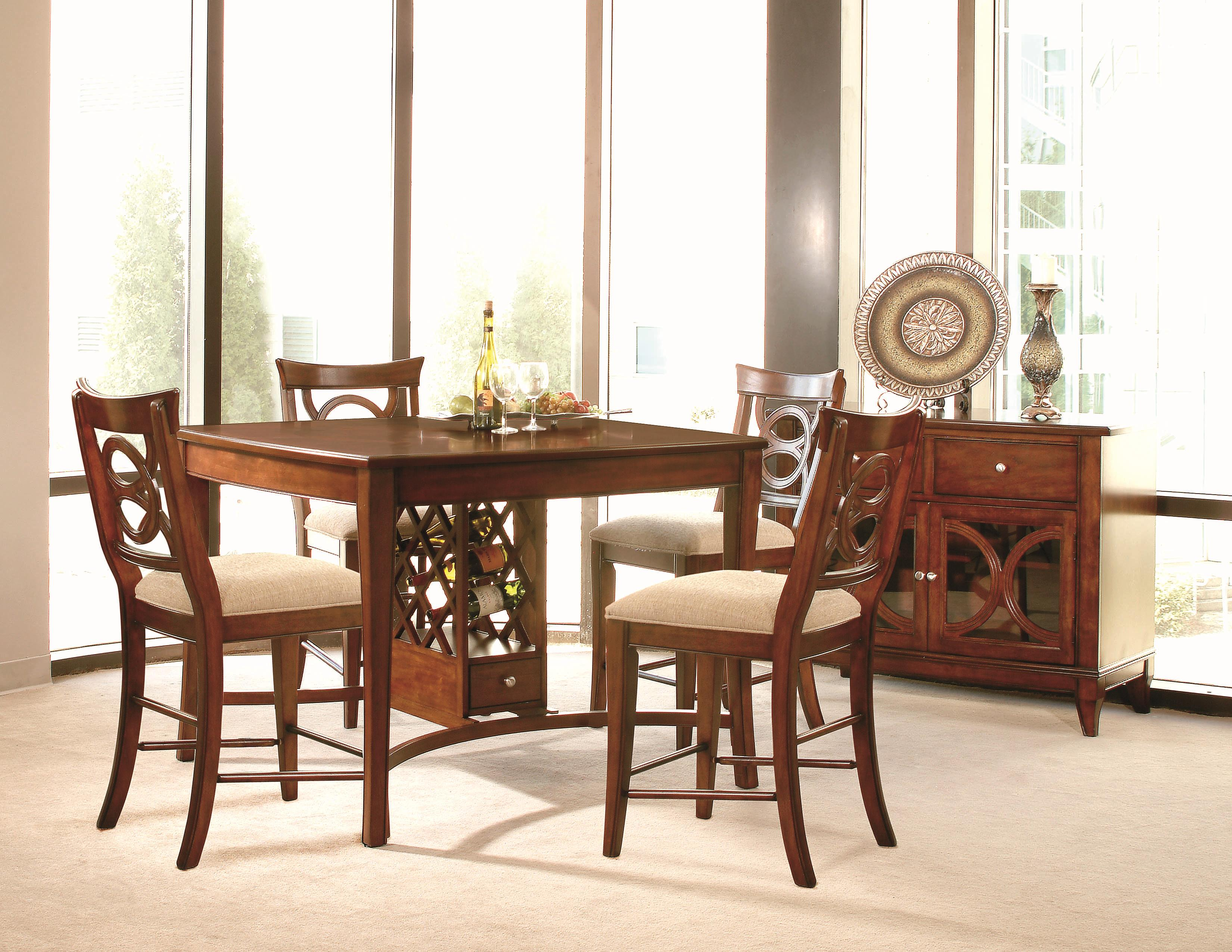 Lacquer Craft USA Orion Rectangle Leg Dining Table With Wood Veneers