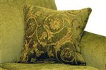 Contrasting Arm Pillows Create Upholstered Depth with a Touch of Design