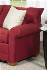 T-Style Back Cushions and Rolled Arms