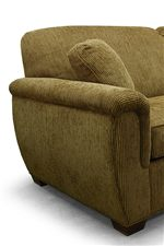 Rounded Back Cushions, Rounded Track Arms, and Block Wood Feet