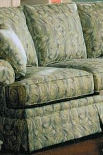 Plump T-Cushion Seats with Skirted Base
