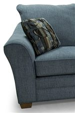 Modern Flared Arms, Cushions, and Tapered Wood Feet