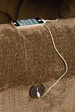 Powered One Arm Recliners Feature Built In USB Chargers