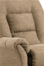 Flared Arms with Pillow Top and Channeled Seat Back