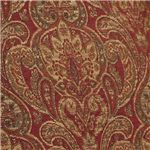 Burgundy Tapestry Features Finite Details for a Luxurious Pattern in a Traditional Style
