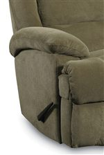 Plush, Pillow Arm and Chaise Leg Rest