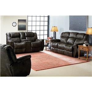 Lane Montgomery Casual Rocker Recliner with Padded Pillow Arms