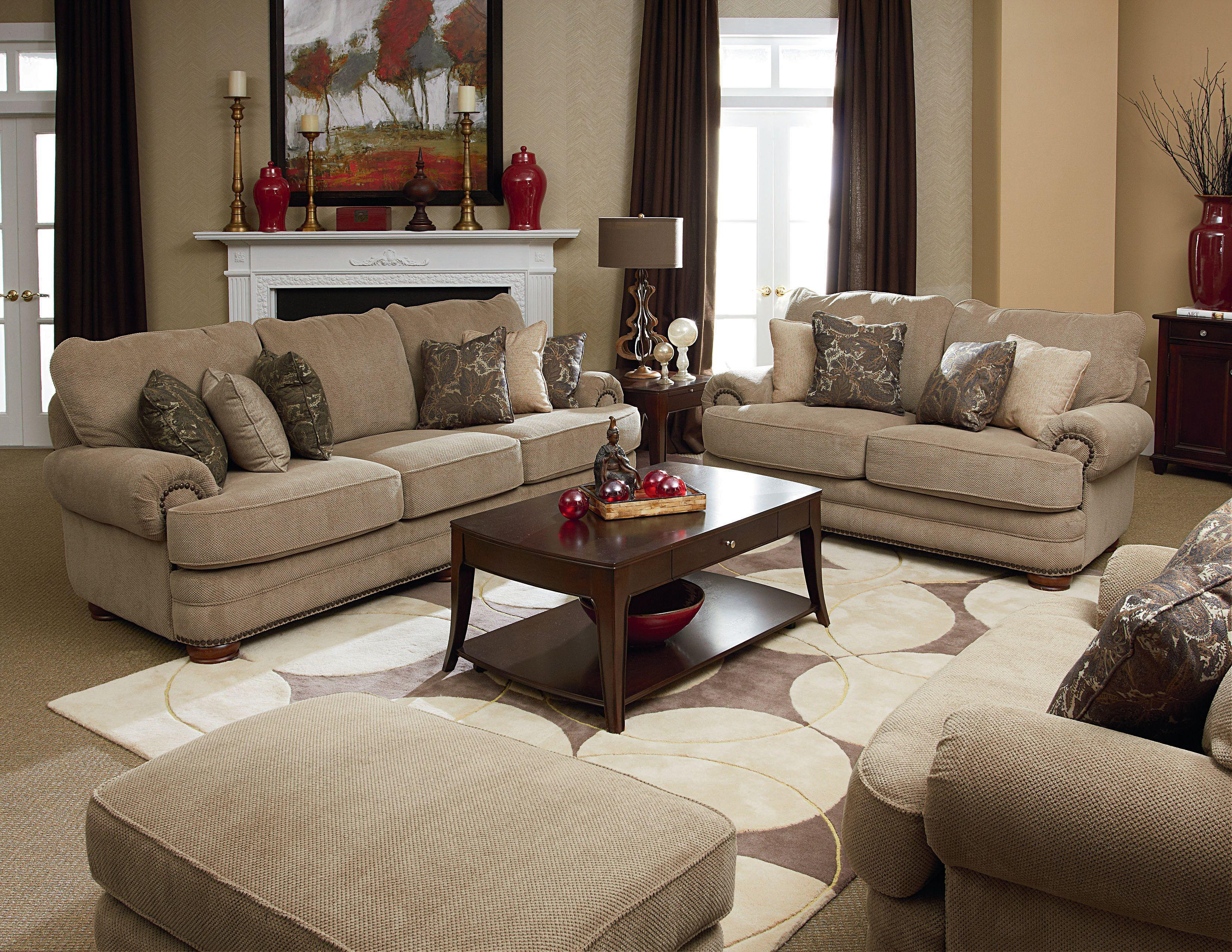 Lane Stanton Chair And Ottoman Set With Nail Head Trim Wood Accent Legs Wilson S Furniture Sets Bellingham Ferndale Lynden
