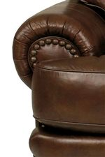 Lane Stanton - Lane Stationary Sofa with Nailhead Trim and Wood Accents