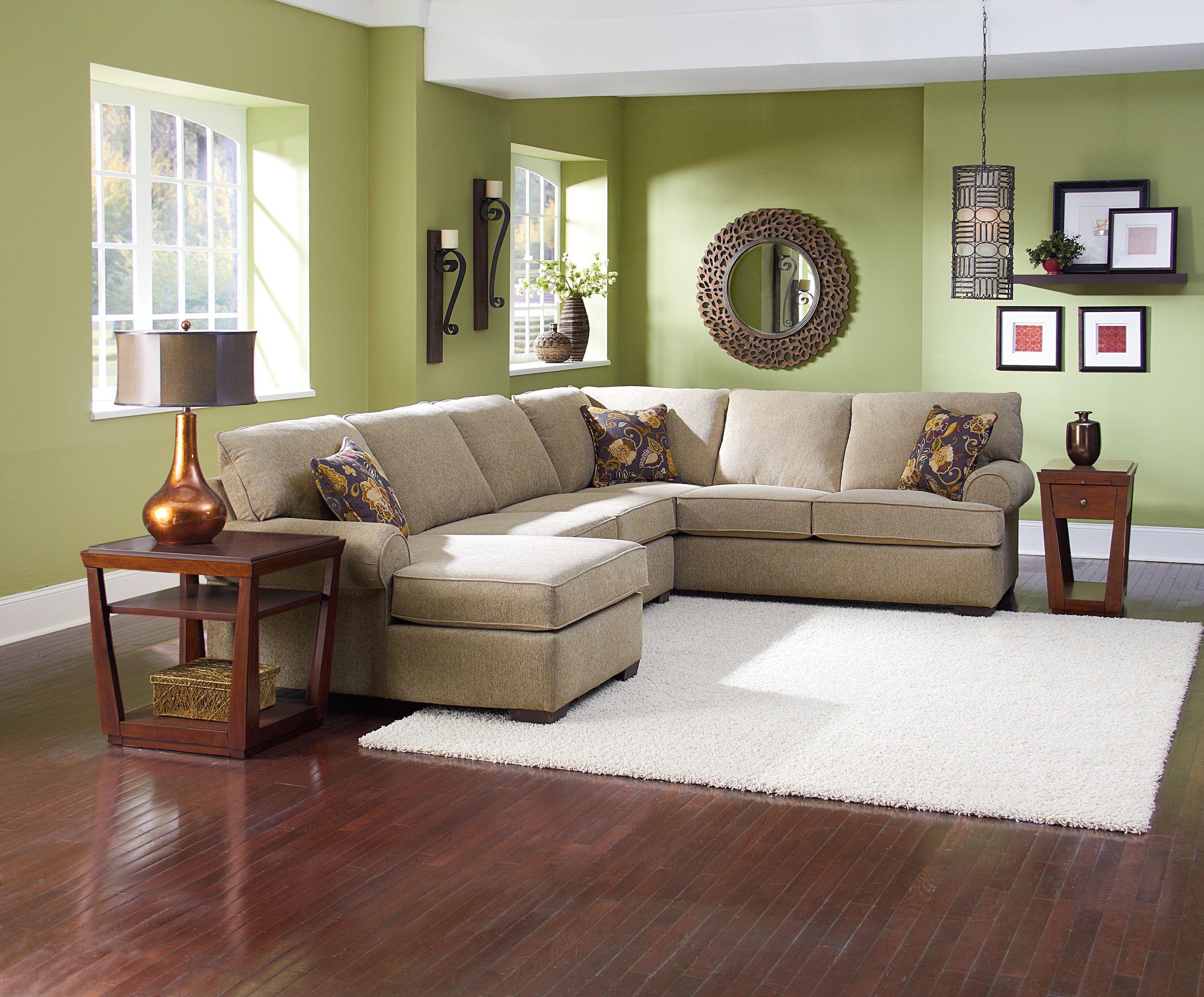 Lane Vivian Transitional 3 Piece Sectional Sofa Rune s Furniture