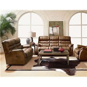 Lane Express Garrett Power Double Reclining Loveseat with Storage Console