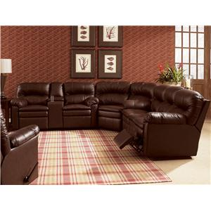 Lane Touchdown  Quick Ship Power Double Reclining Sofa with Pillow Top Arms