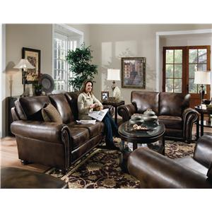 Lane Benson  Stationary Sofa with Nailhead Trim