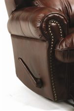 Exterior Reclining Handle and Nail Head Trim
