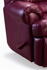 Exposed Handle Blends into Matching Leather & Lane Sherman ComfortKing® Wall Saver® Recliner with Extra-Tall ... islam-shia.org