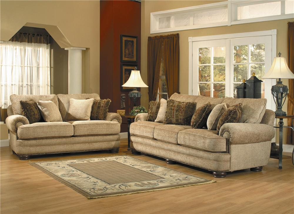Beau Lane Stanton Stationary Sofa With Nailhead Trim And Wood Accents | Westrich  Furniture U0026 Appliances | Sofas