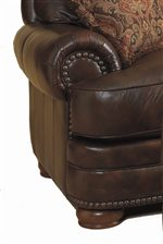 Lane Stanton Large Stationary Chair with Complimentary Nailhead Trim and Wooden Legs