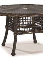 Woven Tops and Simple Bases Create Stylish Tables