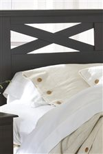 Headboard and Mirror Both Feature X-Design