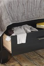 Footboard Features Convenient Drawer Storage to Stay Neat & Tidy