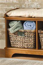 Hidden Basket Storage