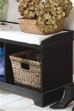 Hidden Storage Basket Space.