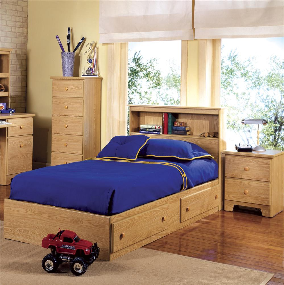 Beautiful Lang Shaker Twin Bookcase Headboard W/ Mateu0027s Bed Base | A1 Furniture U0026  Mattress | Captainu0027s Beds