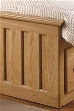 Slatted Details add Arts and Crafts Style