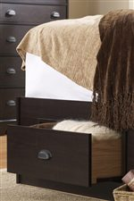 Underbed storage drawers available for efficient use of space