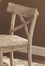 Rustic X-Back Chair Back