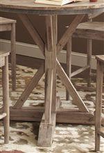 Casual Rustic Pedestal Table Base