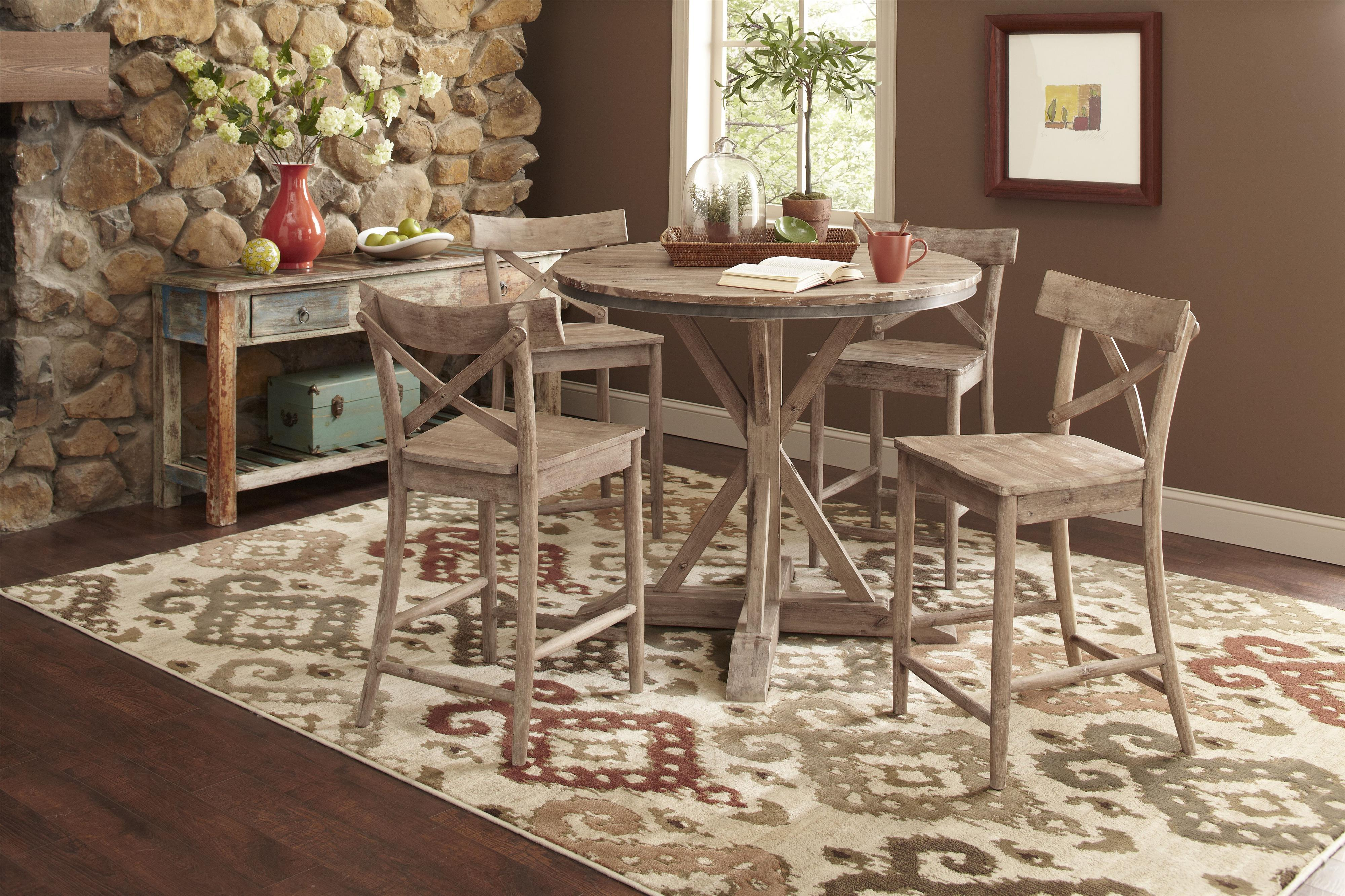 round kitchen table set. largo callista rustic casual round dining table and side chair set & Round Kitchen Table Set Largo Callista Rustic Casual Round Dining ...
