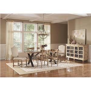 Largo Callista Rustic Casual Round Dining Table and Side Chair Set ...