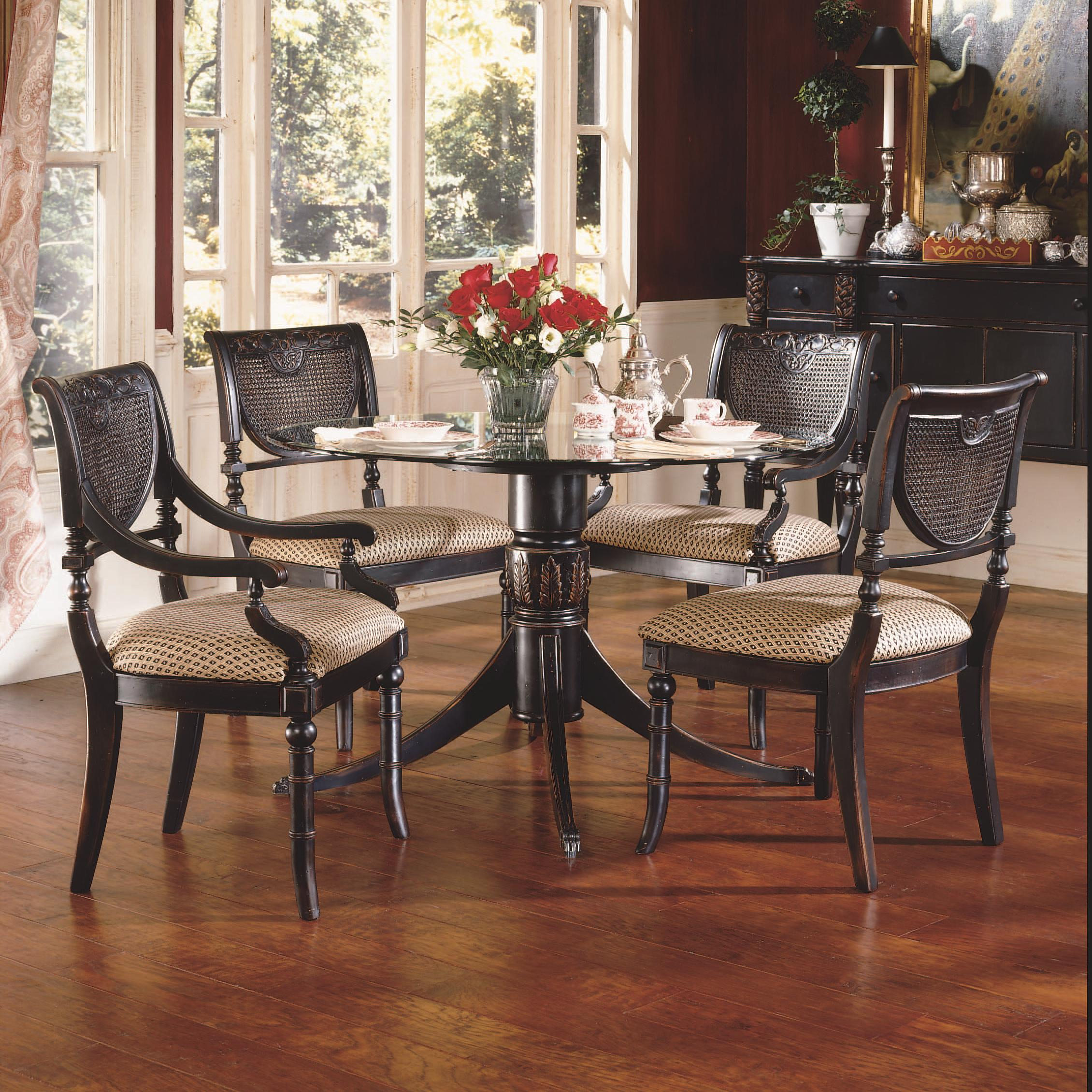 Largo Heritage Five Piece Round Dining Table And Chair Set   Lindyu0027s  Furniture Company   Dining 5 Piece Set