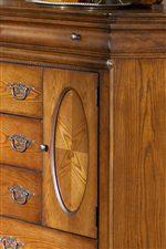 Oval-Panelled Bureau Door