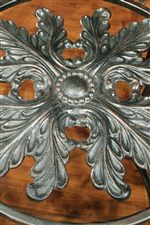 Pieces Feature Stunning Acanthus Leaf Accents Carved into Metal Frames