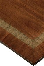 The arch-ended tops are inlayed with cross bands of Primavera set against Mahogany fields