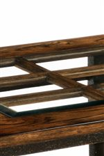 French Window Wood Tops with Beveled Glass Inserts