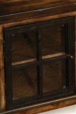 Black/Brown Textured Metal Painted Doors
