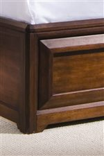 Dark Cherry Veneered Wood adds a Rustic Style to the Footboard