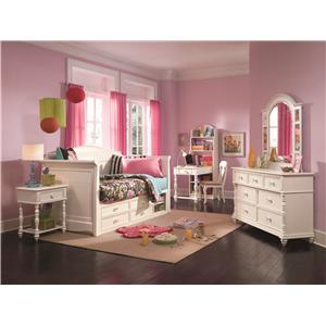 Morris Home Furnishings Geneva Bookcase Desk with Adjustable Shelves