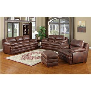 Leather Italia USA Baron Stationary Living Room Group